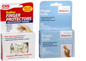 Finger Cots Two Brands