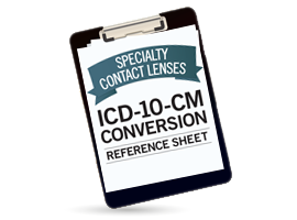 Image for billing and coding, ICD-10, and medically necessary contact lenses